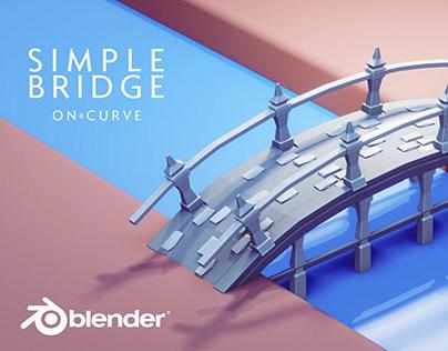 bridge - low poly 3d game art in Blender