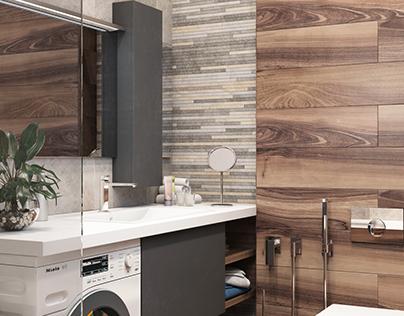 Bathroom interior by MUZA Design