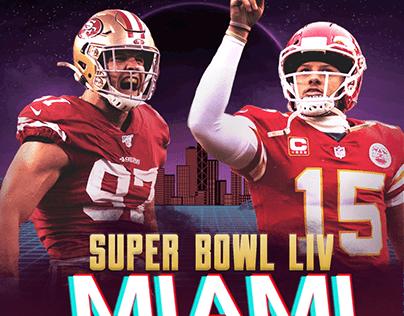 SUPER BOWL LIV Miami Poster
