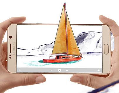 Comercial Samsung Galaxy Note 5 - Aquarela