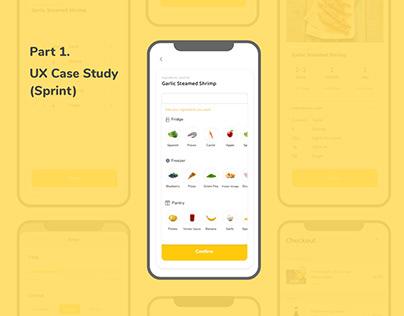 Fridge Management App Part 1. UX Case Study (Sprint)