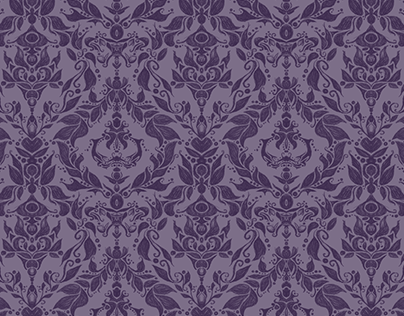 Posh Purple - Victorian Inspired Pattern