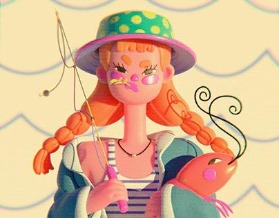 Chica pesquera