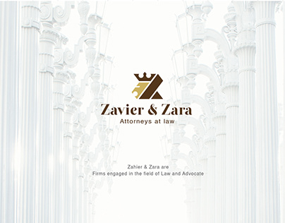 Zavier & zara - Attorneys Law Brand Identity