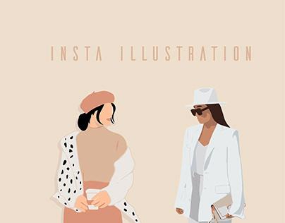 Insta Illustration Vector Fashion