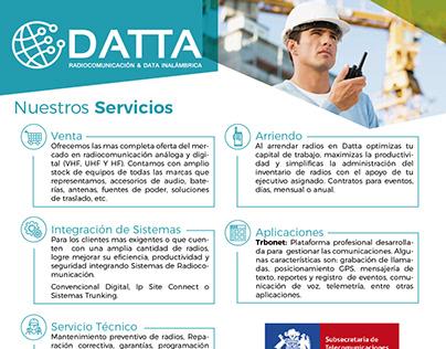 DATTA - Diseño de flyer publicitario - Chile.
