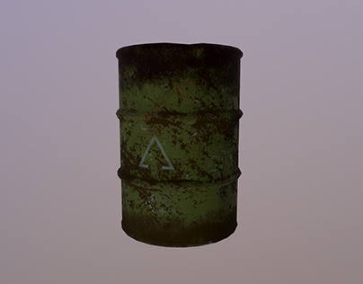 Old Steel Barrel - Prop Creation