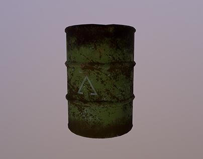Old Steel Barrel - Prop Creation