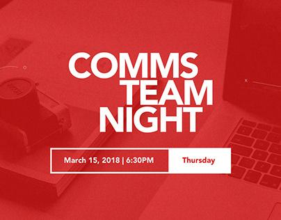 Comms. Ministry Team Night - Digital Invitation Design