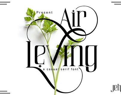Font Elegant Air Leving