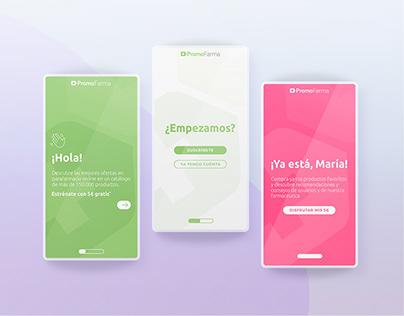 Pantallas Registro App