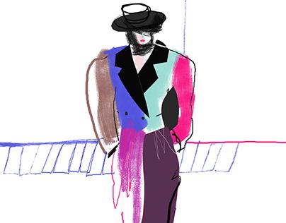 Marc Jacobs fashion illustration