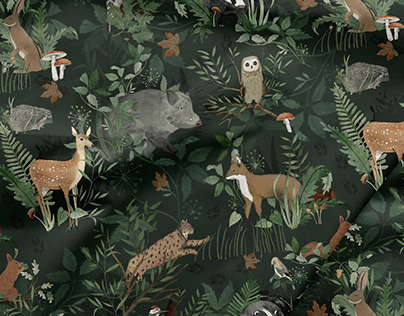 Woodland | Textile Print Design