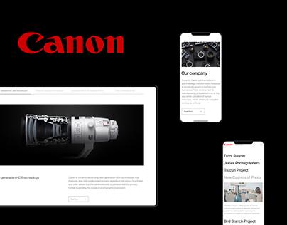 Canon - Website