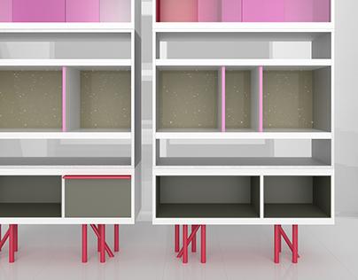 SUNSET: bookcases design