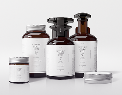 Natural Cosmetic Packaging Mock-Ups Vol.1