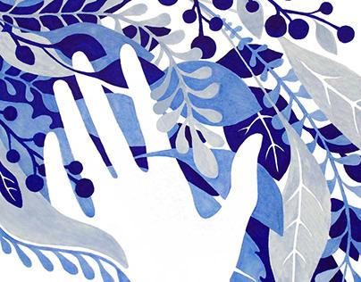 Sketchbook cover design «Greenhouse»