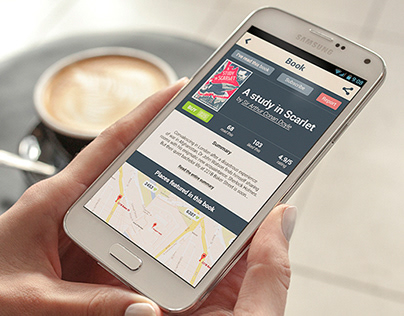 Design concept for book lovers Android app (2014)