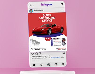 Car Washing Service Social Media Post Template