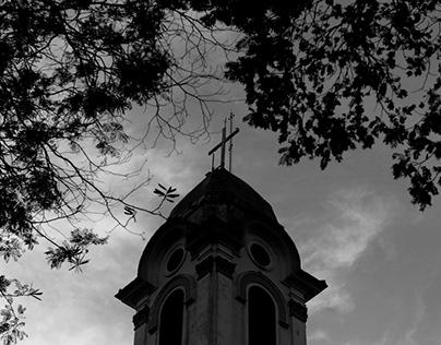 Capão em preto e branco