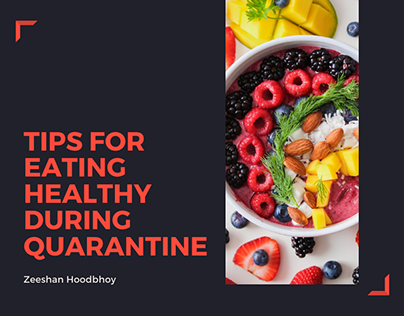 Tips For Eating Healthy During Quarantine