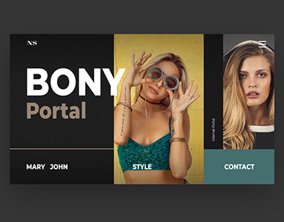 BonyPortal Project. Inerface UI design and animation