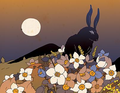 Coniglio nero di Inlè