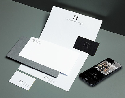 FR logotype and mini identity