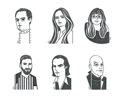 Portraits. El Pais newspaper.