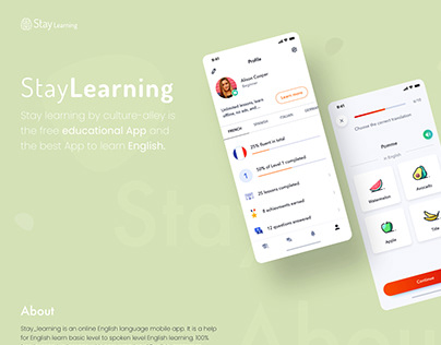 Stay Language Learning App UI Design