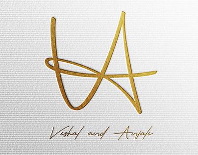 Wedding Couple Identity Design of Vishal & Anjali