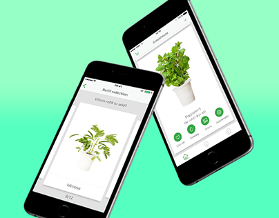 Urban gardening app for Click & Grow