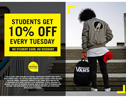 Student Discount Campaign