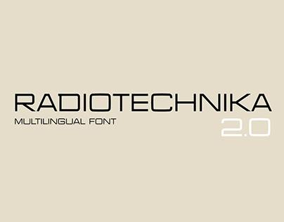 Radiotechnika - Free Industrial Display Font