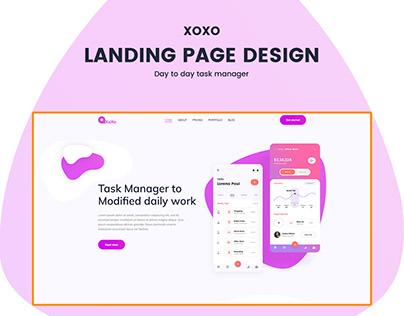 Landing Page Design-Task Manager