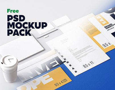 7 FREE Identity Design Mockups Pack