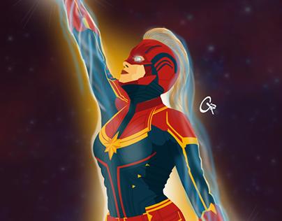 Captain Marvel - Brie Larson (Digital Art)