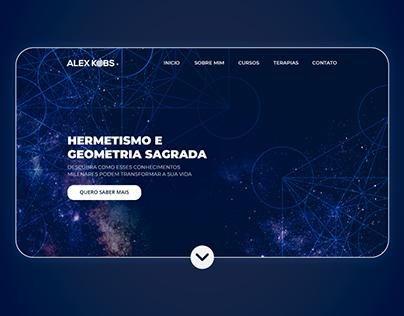 Landing Page - Hermetismo e Geometria Sagrada