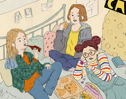 Teaser Illustration for 'Girl Cave' Webseries