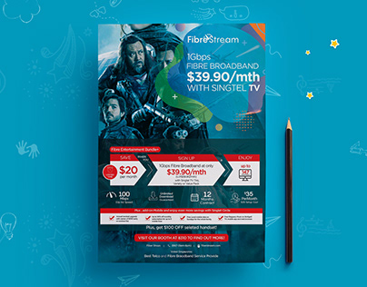 Internet Broadband Promotion Flyer