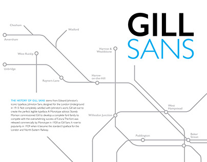 GILL SANS TYPE STUDY