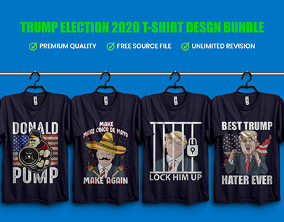 Trump Election 2020 T-Shirt Design Bundle
