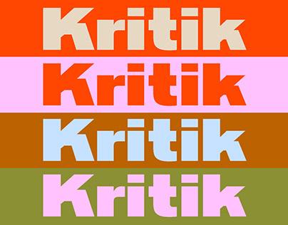 Kritik Typeface