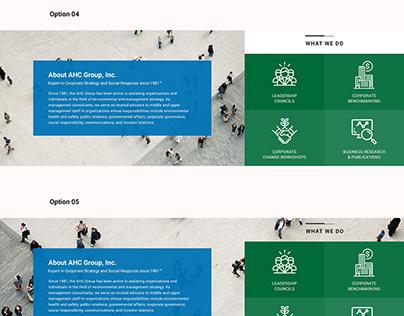 UI UX Design for Business Company Website - Imtiaz Qazi
