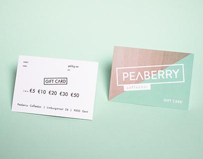 Gift card Peaberry Coffeebar