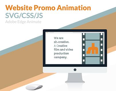 Website Promo Animation CSS/SVG/JS