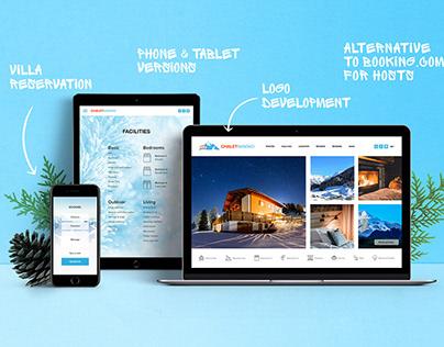 Logo and website for mountain villa