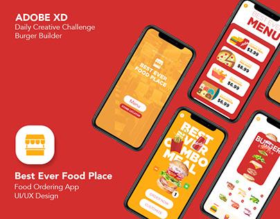 XD Creative Challenge: Burger Builder