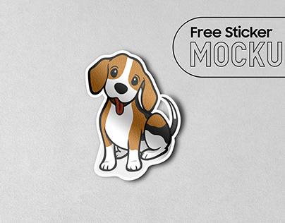 Best Free Sticker Mockup PSD