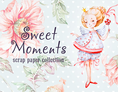 Sweet Moments scrap paper collection